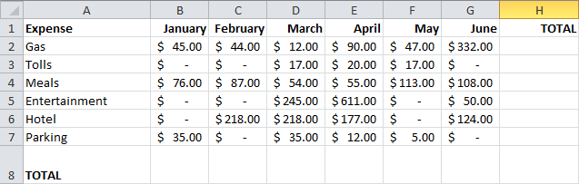 Excel Tips Example 5