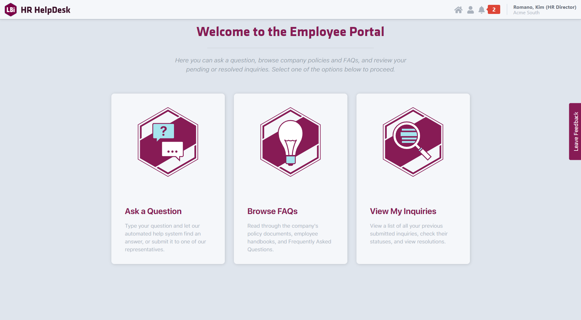 HR HelpDesk Portal