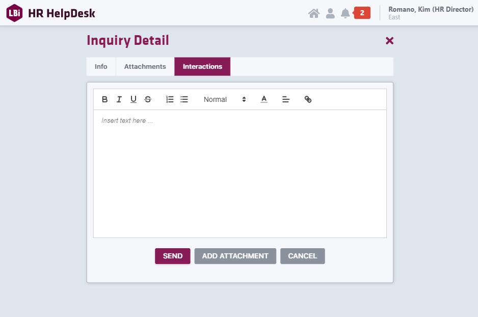HR HelpDesk Portal Interaction