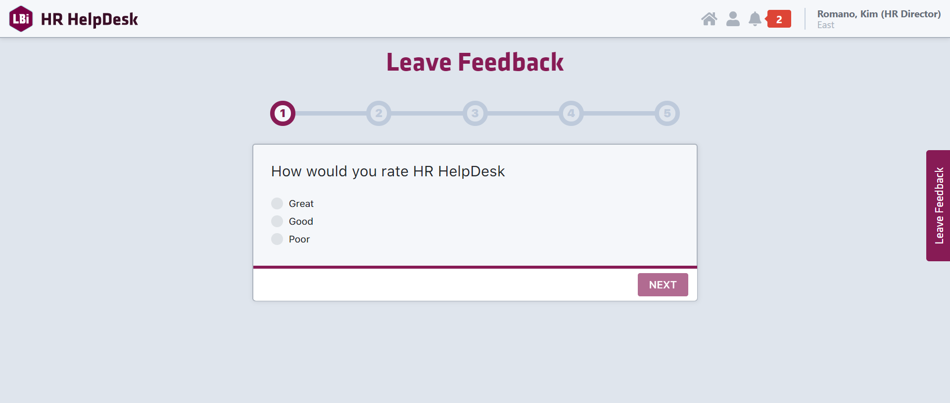 HR HelpDesk Portal Survey